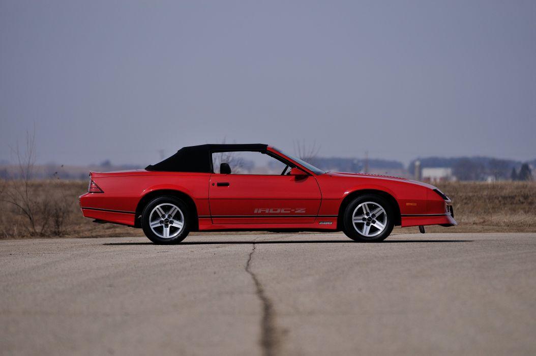 1987 Chevrolet Camaro Z28 Convertible Muscle Classic Original Red USA 4288x2848-02 wallpaper
