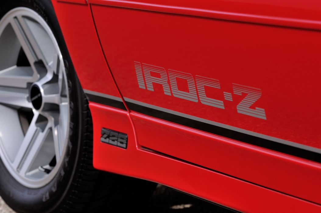 1987 Chevrolet Camaro Z28 Convertible Muscle Classic Original Red USA 4288x2848-05 wallpaper