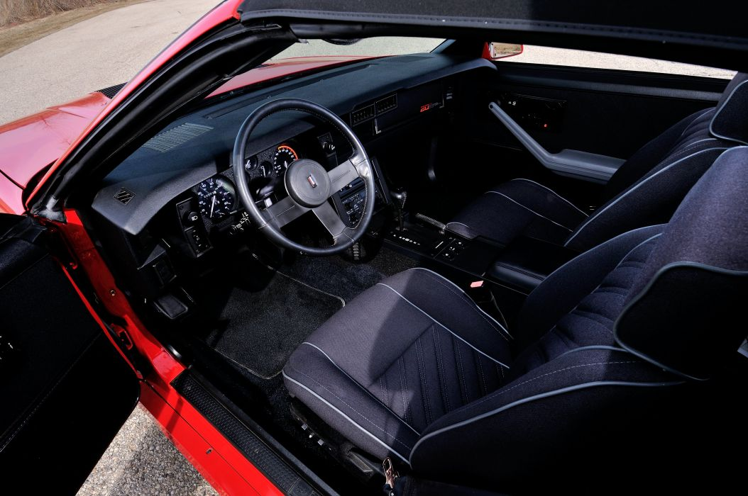 1987 Chevrolet Camaro Z28 Convertible Muscle Classic Original Red USA 4288x2848-04 wallpaper
