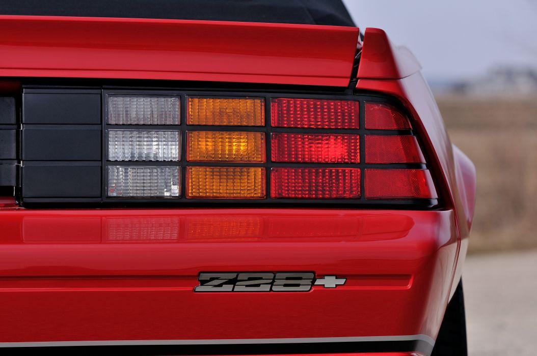 1987 Chevrolet Camaro Z28 Convertible Muscle Classic Original Red USA 4288x2848-06 wallpaper