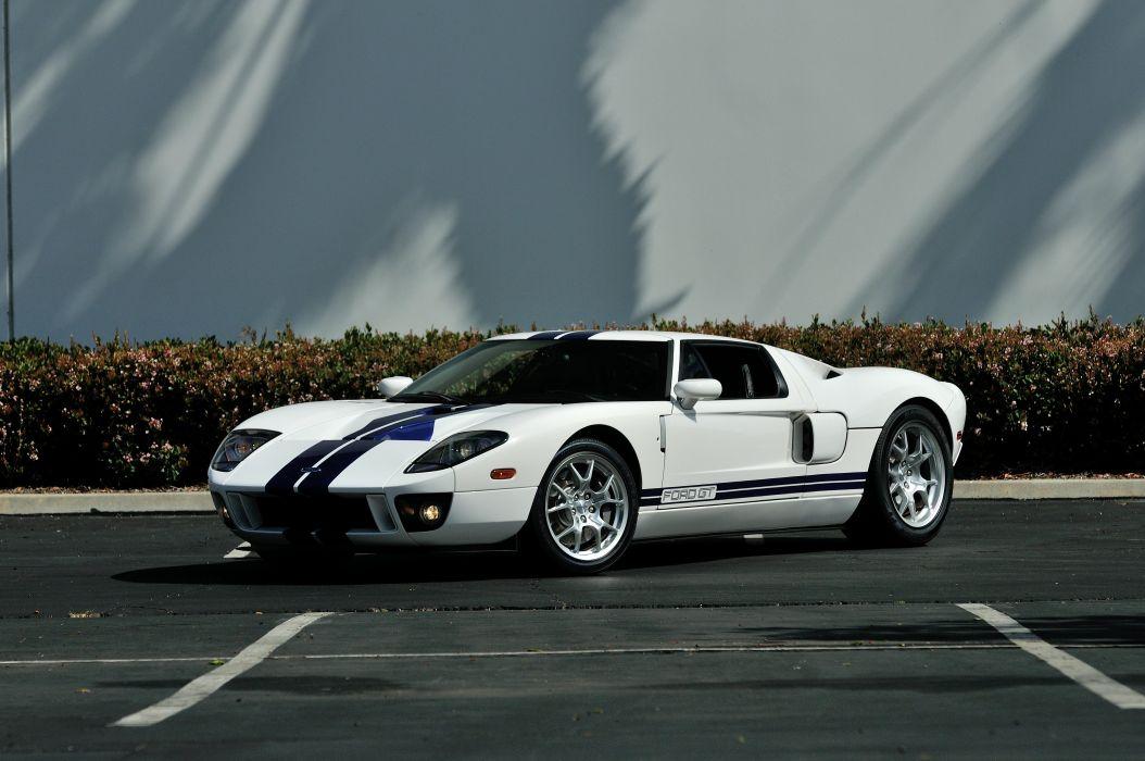 2006 Ford GT Supercar Super Car White USA 4288x2848-01 wallpaper