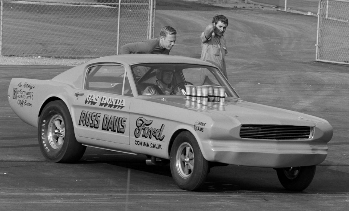 Golden Age of Drag Racing Surfers Launch Action Vintage Race Mustang Drag USA 4969x3005-01 wallpaper