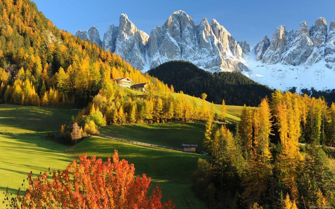 paisaje alpes italianos montaA wallpaper