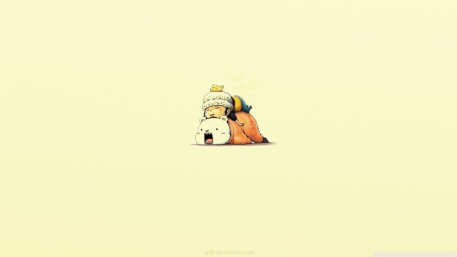 One Piece series anime characters animal cute wallpaper