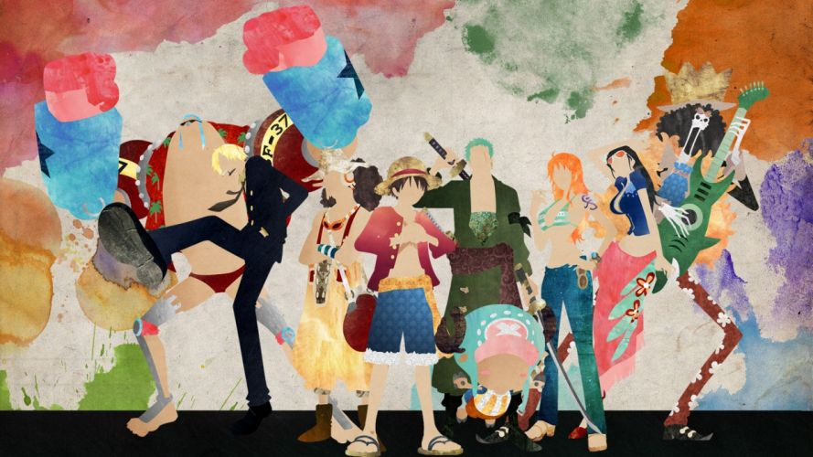 One Piece series anime characters original wallpaper
