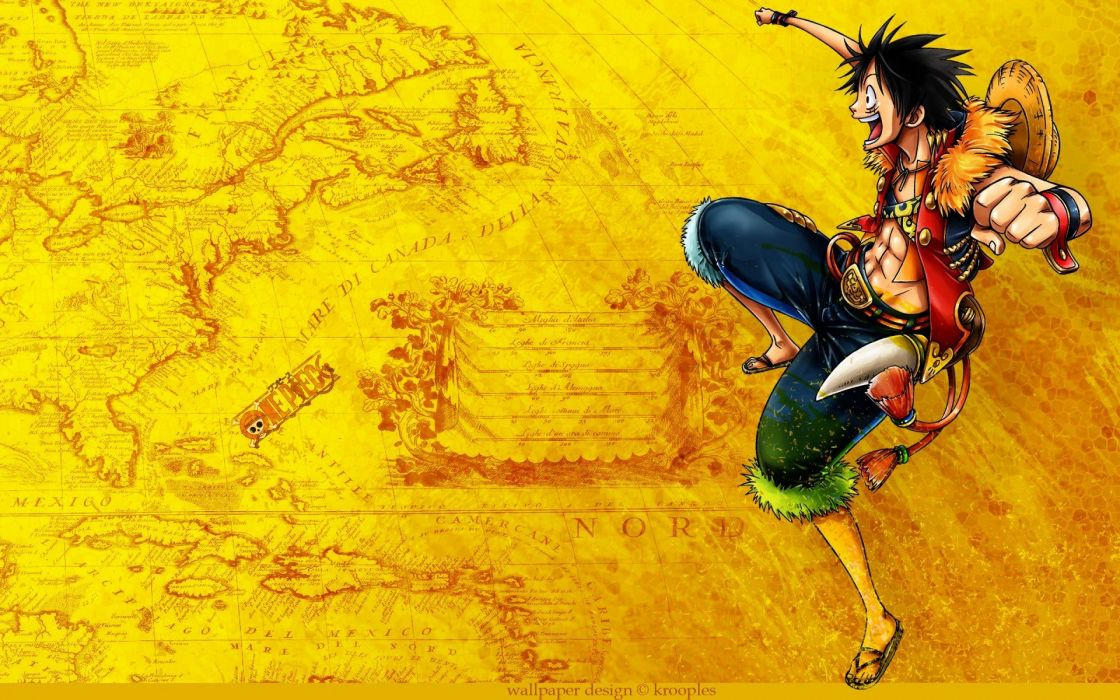 One Piece series anime characters lufi wallpaper