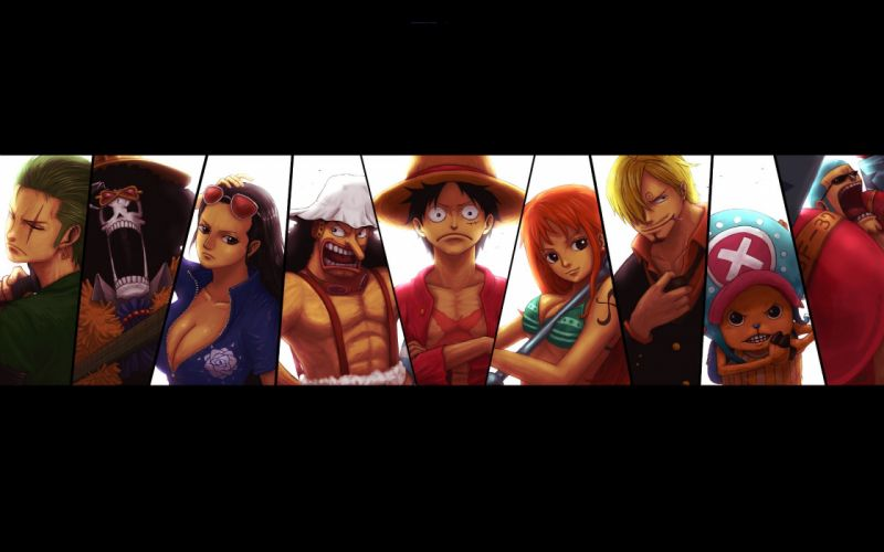 One Piece series anime characters wallpaper