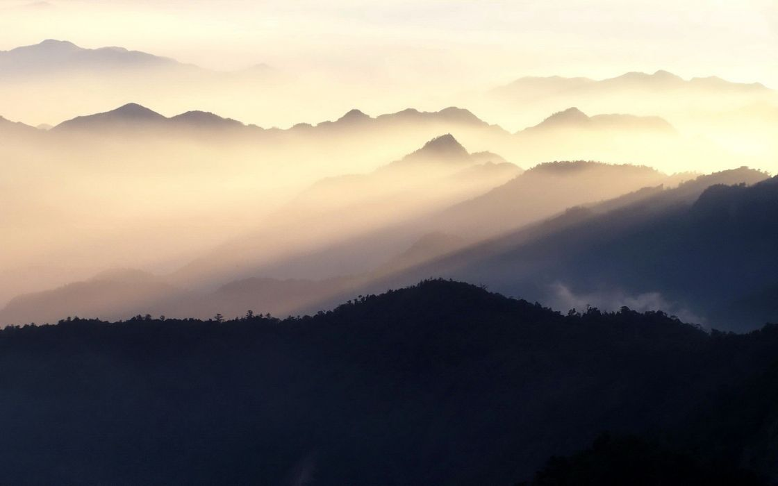 taiwan-evening-landscapes-mountains-nature wallpaper