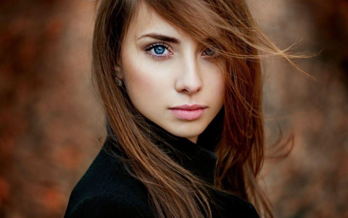 Beautiful-girl face blue eyes wallpaper | 1920x1200 ...