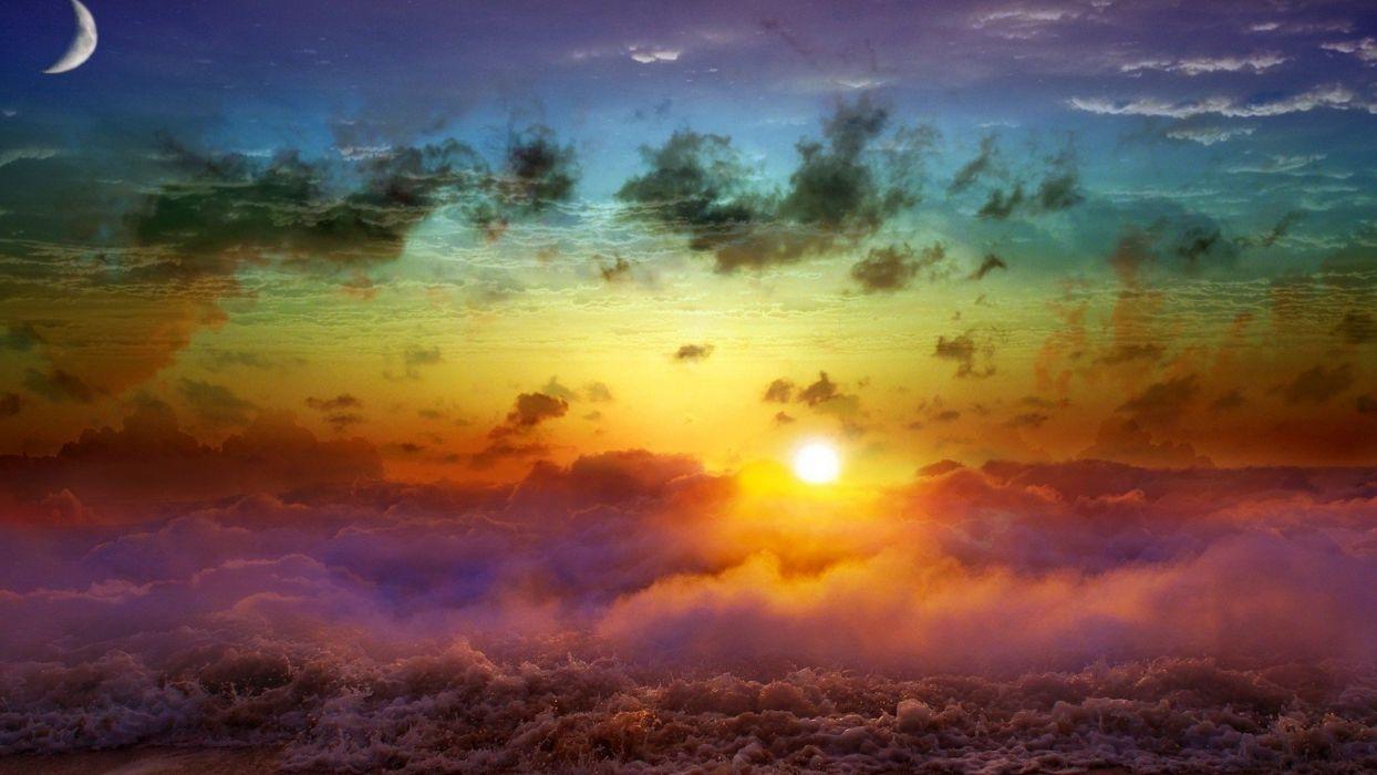 colorful-sky wallpaper