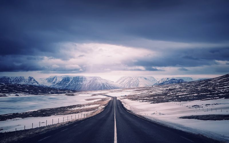 road-to-heaven-snow-mountain-nature-winter wallpaper