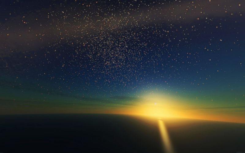 stars-shine-horizon-space-sky-nature- wallpaper