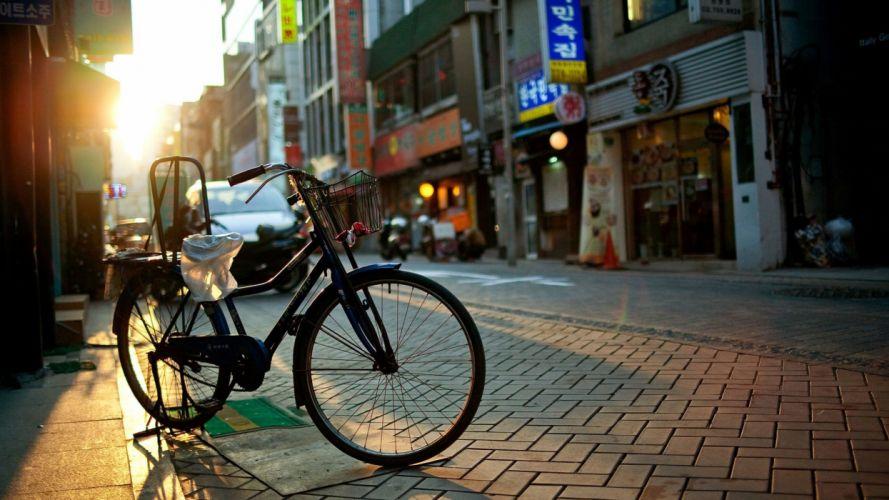 sunshine street Bicycle wallpaper