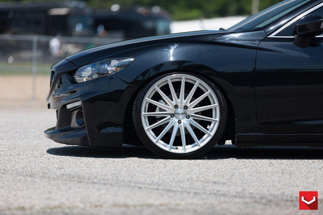 Vossen Wheels cars tuning Mazda-6 black wallpaper