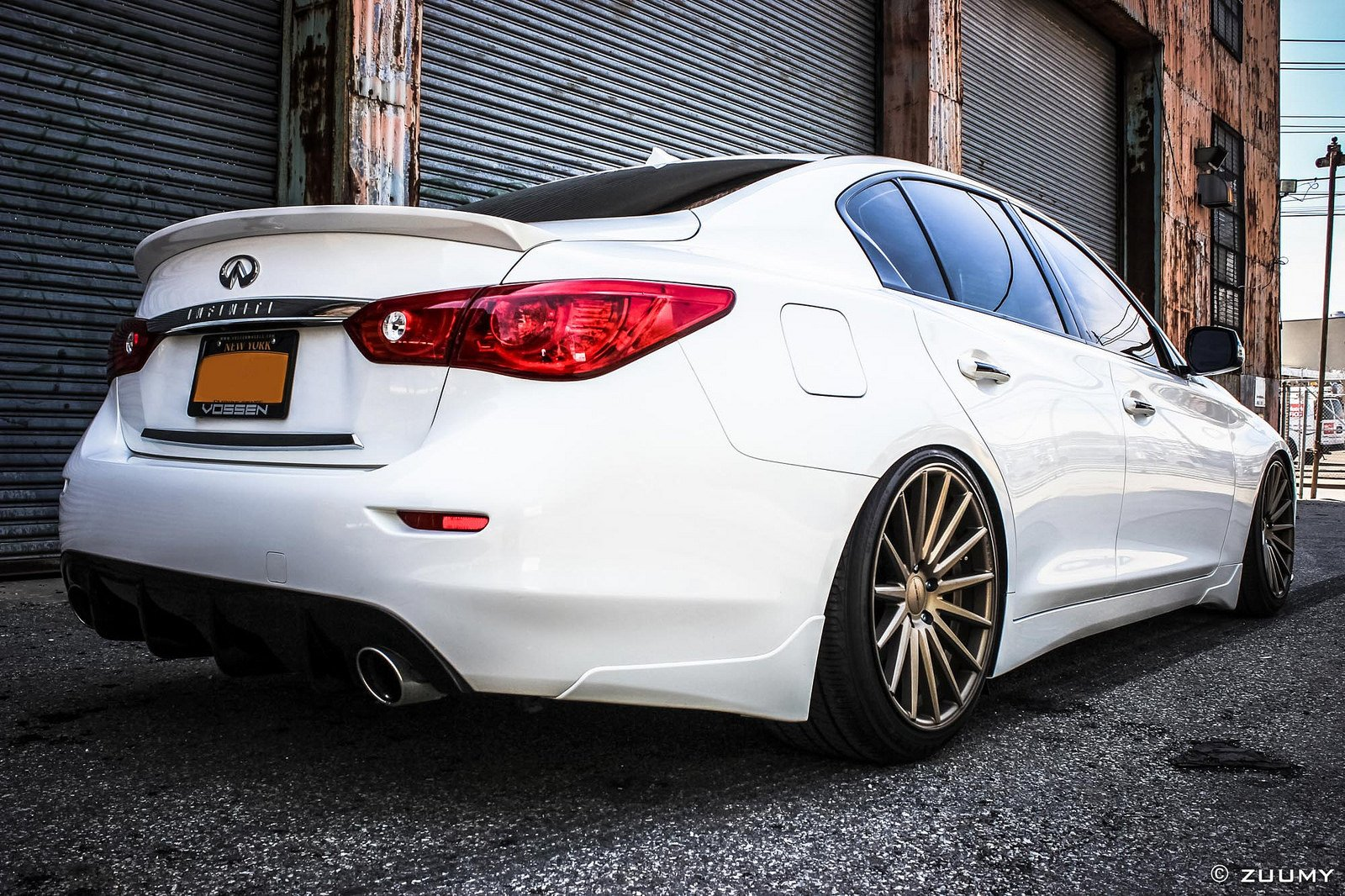 Vossen Wheels Cars Tuning Infiniti Q50 Wallpaper