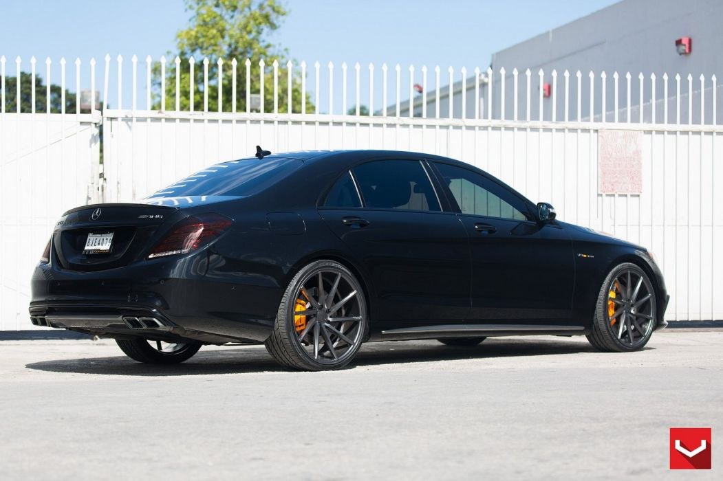 Vossen Wheels cars tuning Mercedes Benz S63 black wallpaper