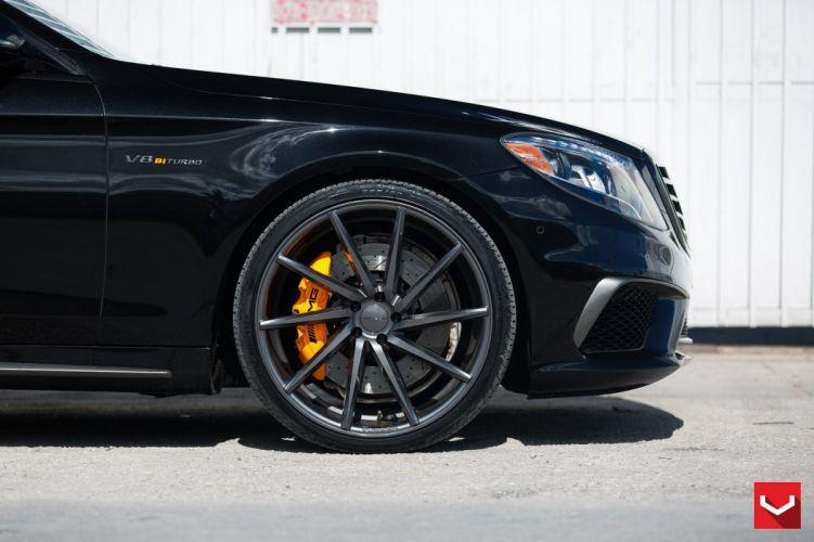 Vossen Wheels cars tuning Mercedes Benz S63 black wallpaper