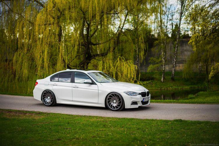 Vossen Wheels cars tuning BMW 3-Series white wallpaper