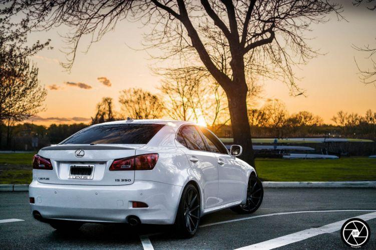 Vossen Wheels cars tuning Lexus Is350 white wallpaper