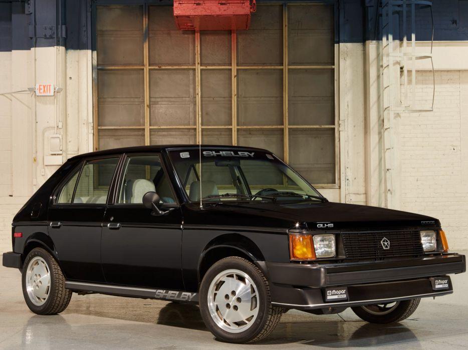 1986 Dodge Omni Shelby GLHS cars black wallpaper