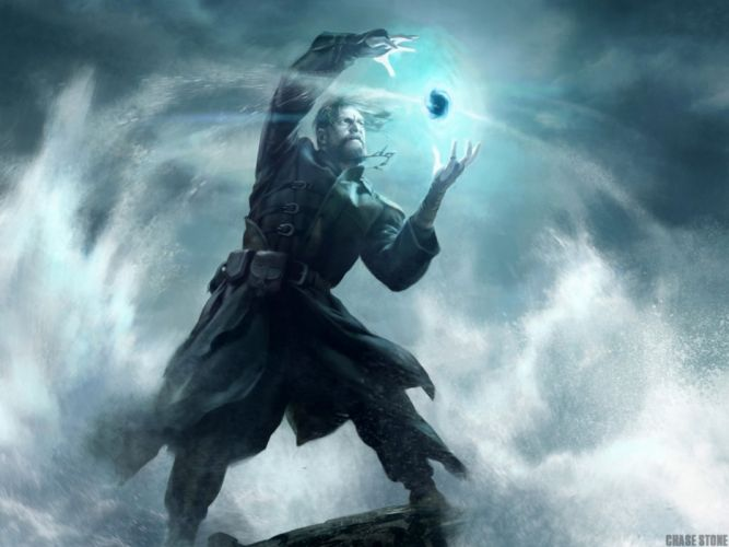 fantasy mage wizard sorcerer art artwork magic magician wallpaper