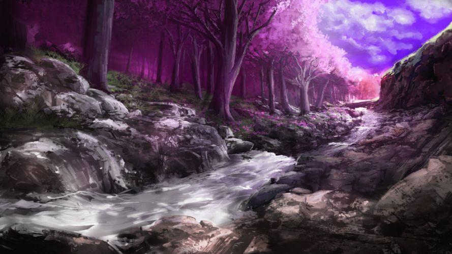 forest nature landscape tree art artwork wallpaper