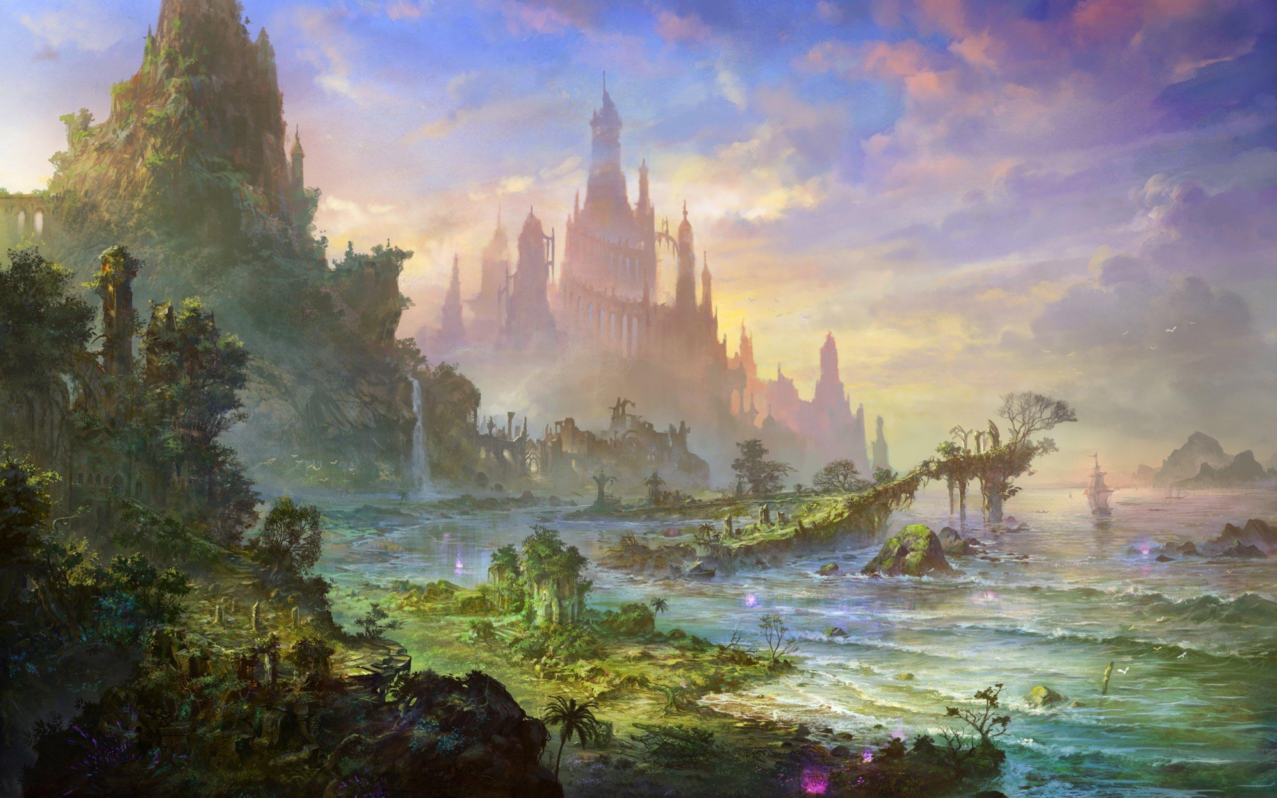 2560x1600 landscape drawing wallpaper - photo #27