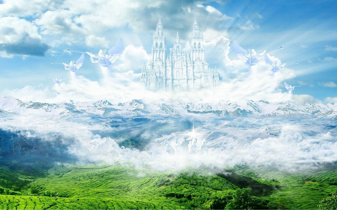 castle building artwork art landscape city cities wallpaper
