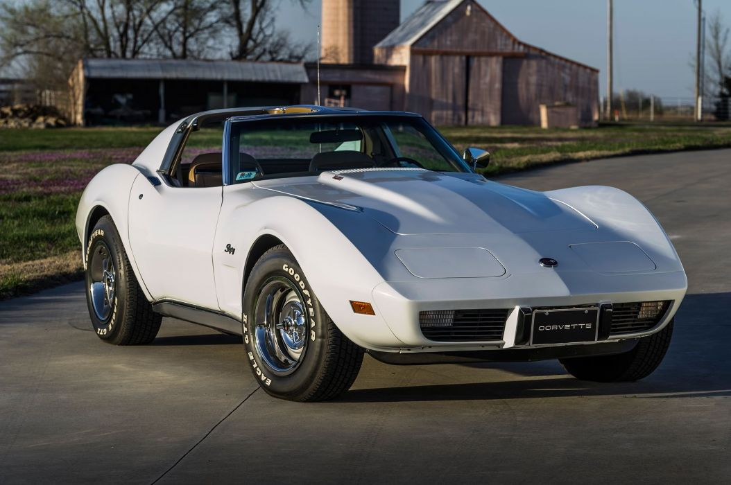 1975 Chevrolet Corvette Sting Ray Muscle Classic Old Original White USA-2048x1360-01 wallpaper