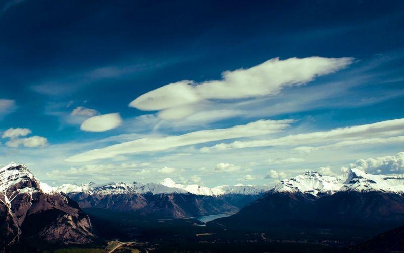 -canada-mountain-blue-sky-snow-high-nature wallpaper