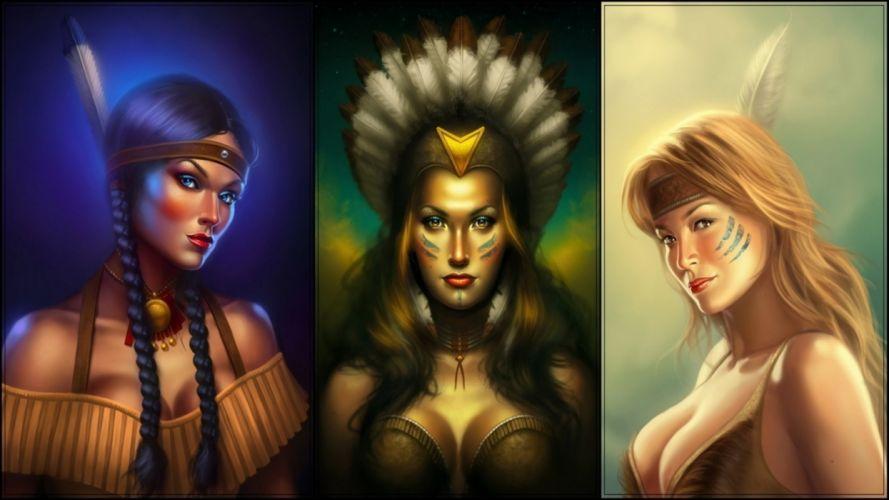 artistic art artwork women female girl girls woman wallpaper