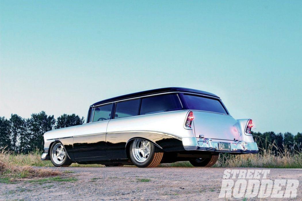 1956 Chevrolet Chevy Bel Air Nomad 210 Wagon Streetrod Street Rod Cruiser USA 1600x1200-02 wallpaper