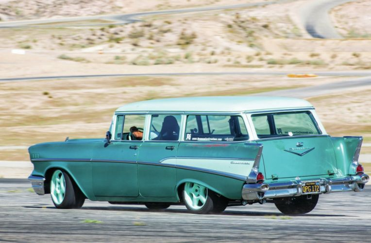 1957 Chevrolet Chevy Bel Air Nomad 210 Wagon Pro Street Drag USA 2048x1340-02 wallpaper