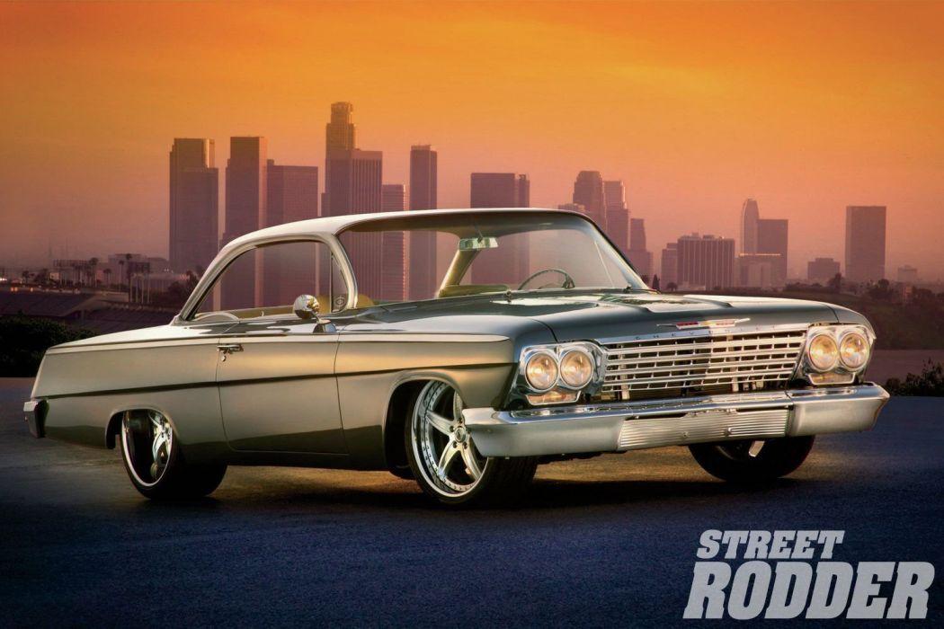 1962 Chevrolet Chevy Bel Air Coupe Streetrod Street Rod Cruiser USA 1500x1000-01 wallpaper