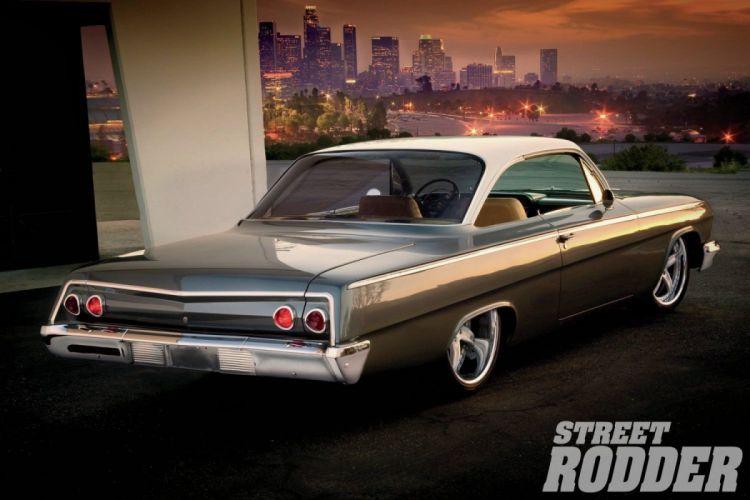 1962 Chevrolet Chevy Bel Air Coupe Streetrod Street Rod Cruiser USA 1500x1000-02 wallpaper