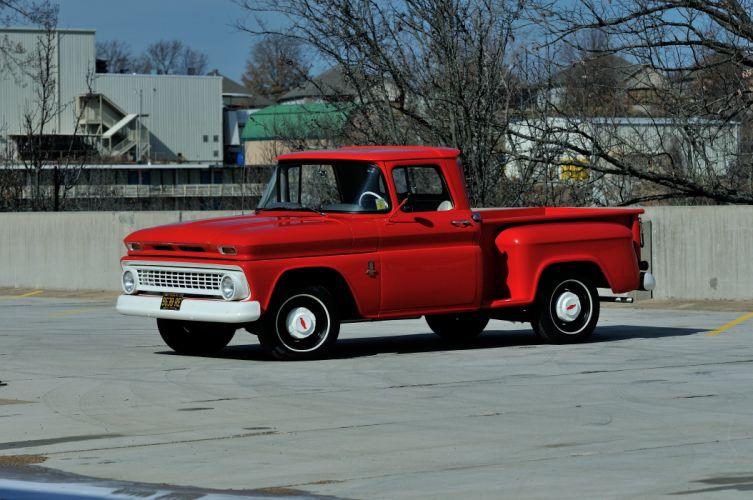 1963 Chevrolet PickupC-10 Stepside Classic Old Original Red USA 4288x2848-01 wallpaper
