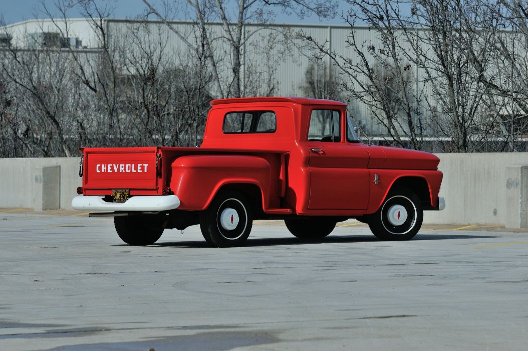 1963 Chevrolet PickupC-10 Stepside Classic Old Original Red USA 4288x2848-03 wallpaper
