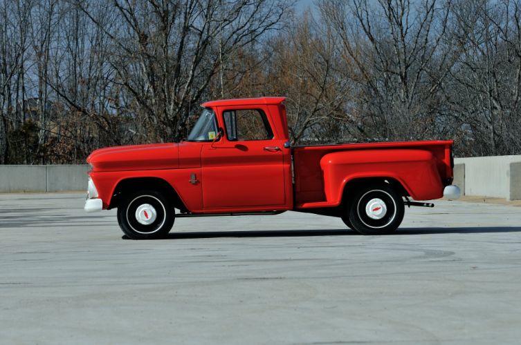 1963 Chevrolet PickupC-10 Stepside Classic Old Original Red USA 4288x2848-02 wallpaper