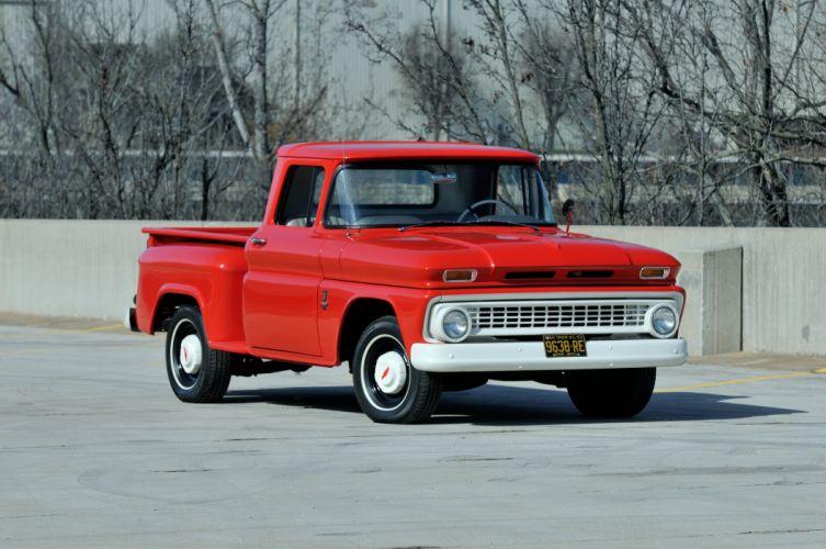 1963 Chevrolet PickupC-10 Stepside Classic Old Original Red USA 4288x2848-07 wallpaper