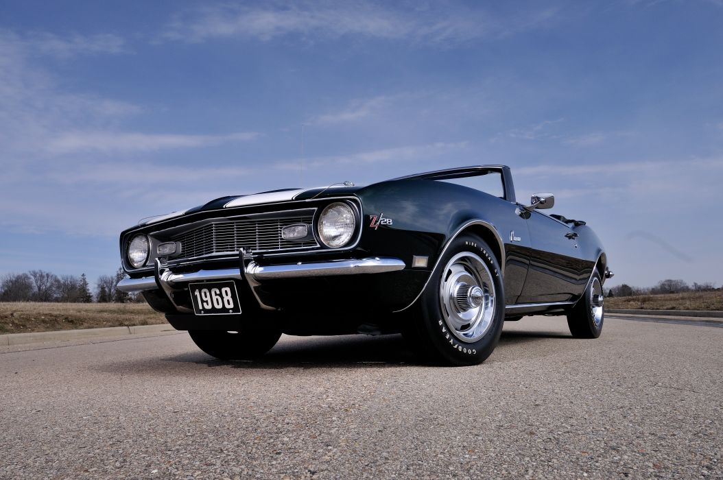 1968 Chevrolet Camaro Z28 Convertible Muscle Classic Vintage Original USA 4288x2848-07 wallpaper