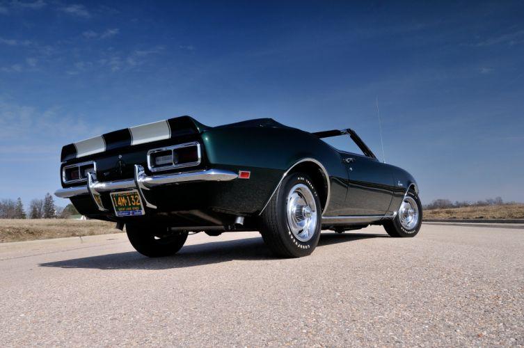 1968 Chevrolet Camaro Z28 Convertible Muscle Classic Vintage Original USA 4288x2848-08 wallpaper