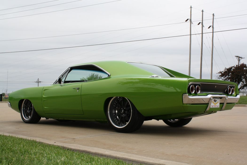 1968 Dodge Charger RT Streetrod Street Rod Hot Low Muscle USA 2888x2592-02 wallpaper