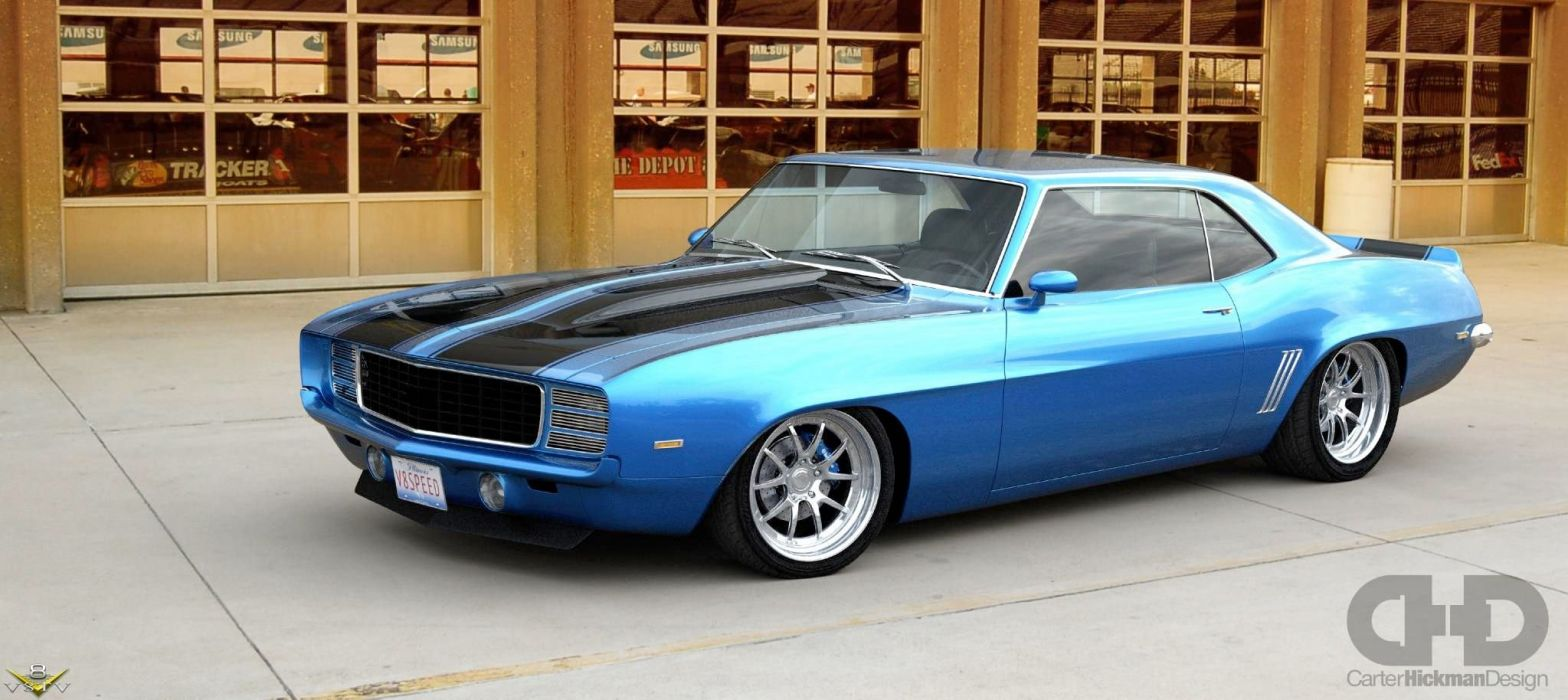 1969 Chevrolet Camaro Z28 Streetrod Street Rod Hot Muscle Supercar USA 2048x914-05 wallpaper