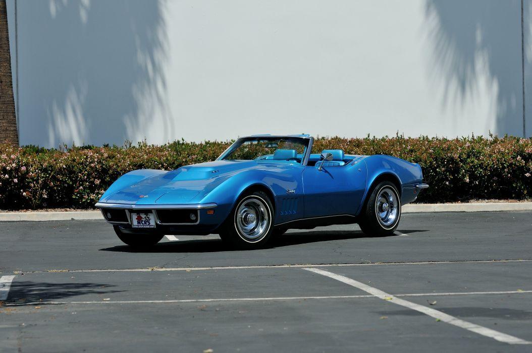 1969 Chevrolet Corvette 427 L88 Convertible Muscle Classic Old Original Blue USA 4288x2848-01 wallpaper