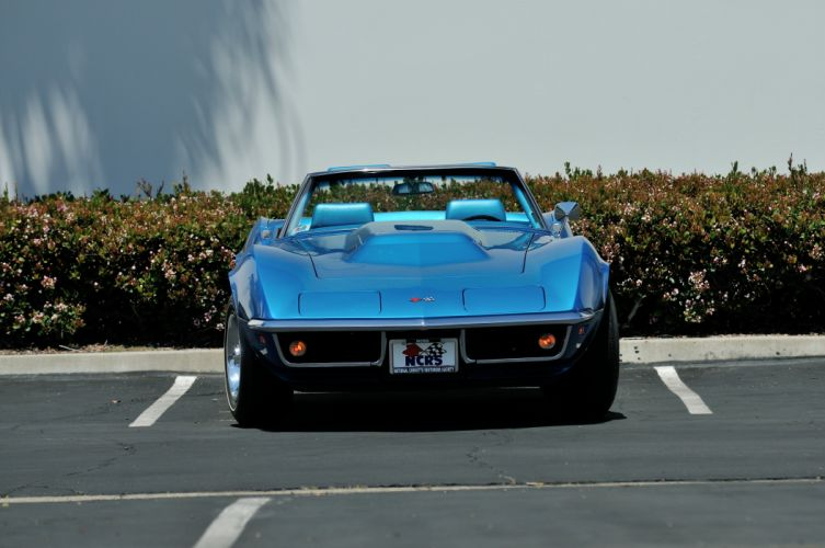 1969 Chevrolet Corvette 427 L88 Convertible Muscle Classic Old Original Blue USA 4288x2848-07 wallpaper