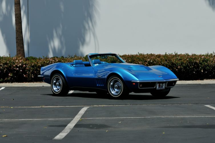 1969 Chevrolet Corvette 427 L88 Convertible Muscle Classic Old Original Blue USA 4288x2848-08 wallpaper