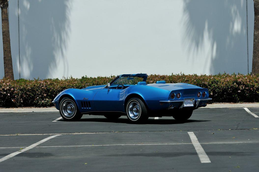 1969 Chevrolet Corvette 427 L88 Convertible Muscle Classic Old Original Blue USA 4288x2848-09 wallpaper
