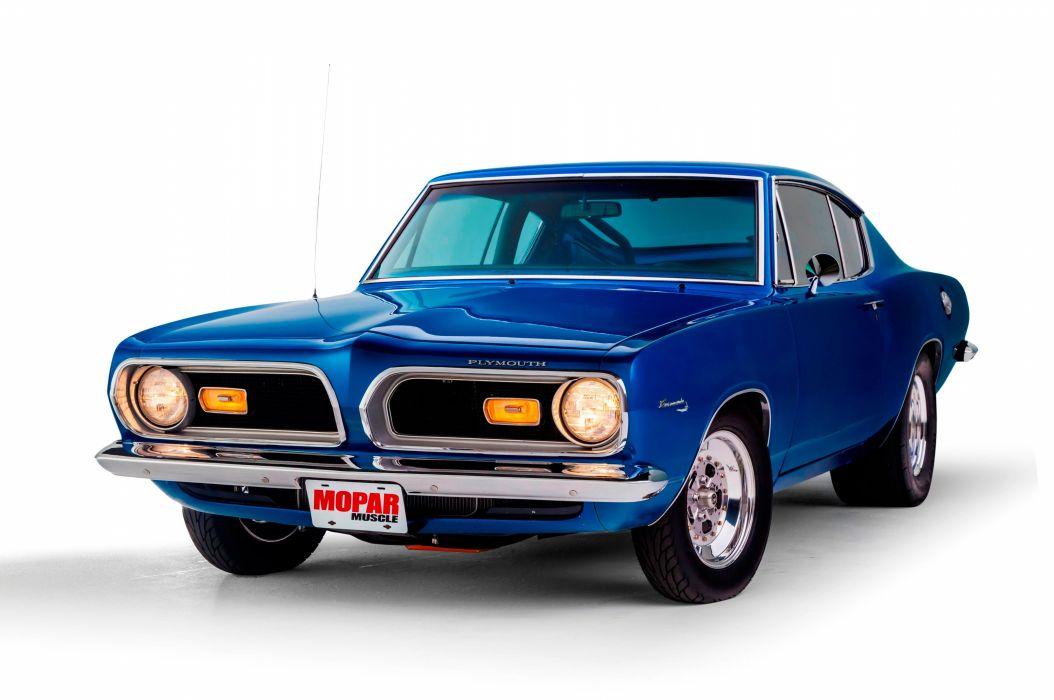 1969 Plymouth Barracuda Muscle Hotrod Streetrod Blue Hot Rod Street Drga USA 5120x3401-01 wallpaper