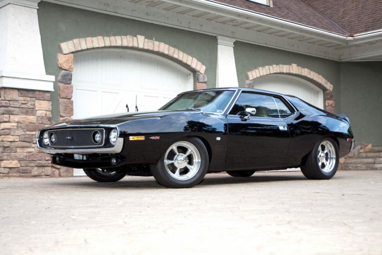 1970 AMC AMX Javelin 401 Streetrod Street Hot Rod Machine Black USA 4752x3168-01 wallpaper