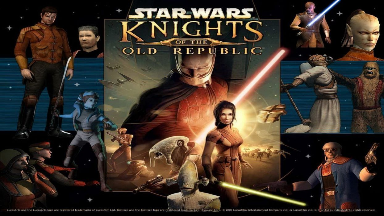 Star Wars Knights Old Republic Sci Fi Futuristic Action Fighting Warrior Wallpaper 1920x1080 686487 Wallpaperup